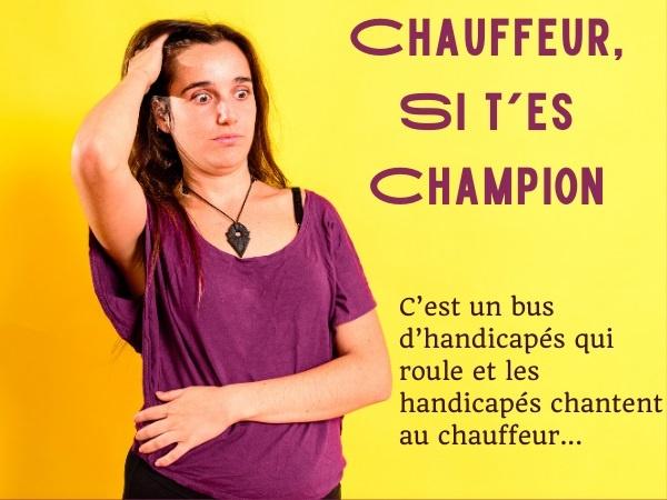 humour, blague handicapés, blague handicap, blague bus, blague autobus, blague chauffeur, blague vitesse