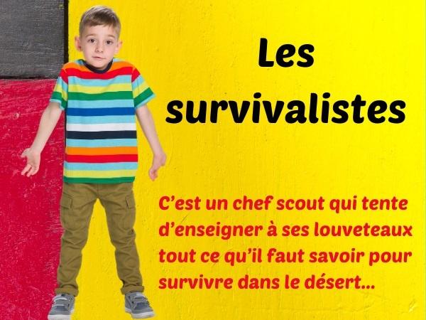 humour, blague scouts, blague survivalistes, blague désert, blague jeu de cartes, blague boussole, blague de Toto