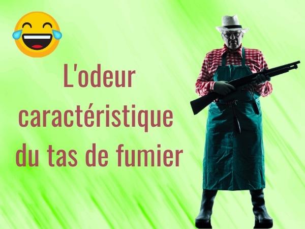 humour, blague garde champêtre, blague police, blague autorité, blague paysan, blague fumier, blague épandeur, blague mouches, blague mouches à merde, blague cul, blague vaches, humour fermier