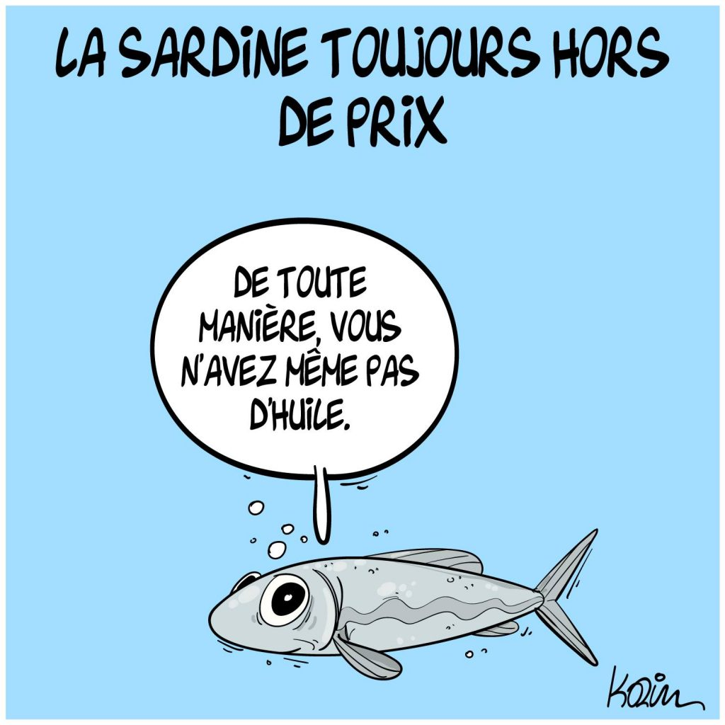dessin presse humour Algérie image drôle prix sardines