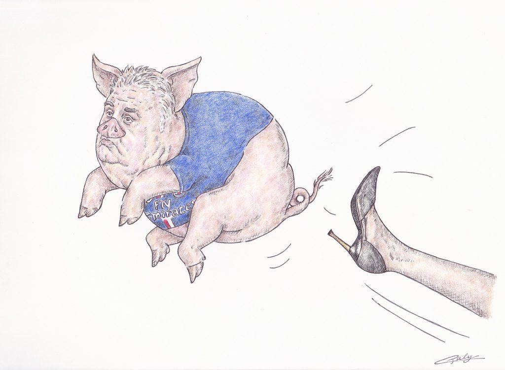 dessin presse humour Pierre Ménès image drôle atteintes sexuelles