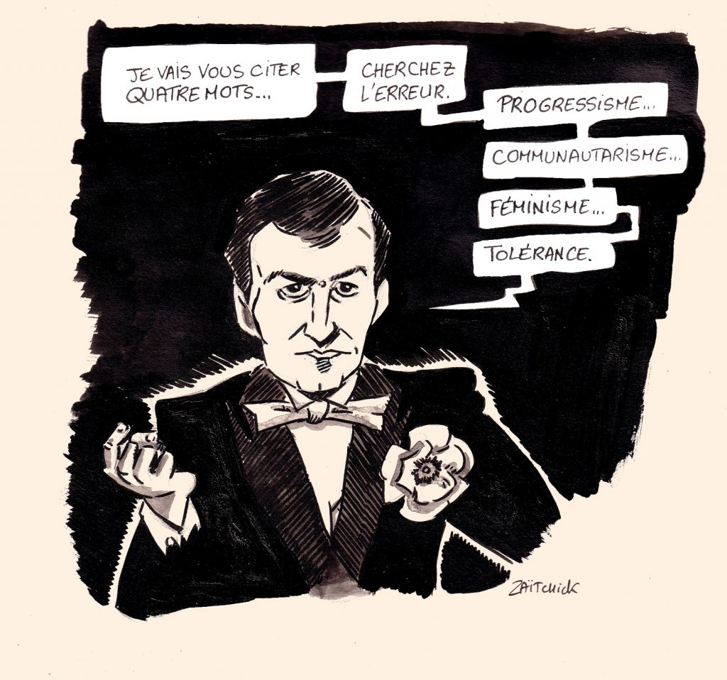 dessin presse humour Pierre Desproges image drôle progressisme féminisme communautarisme tolérance