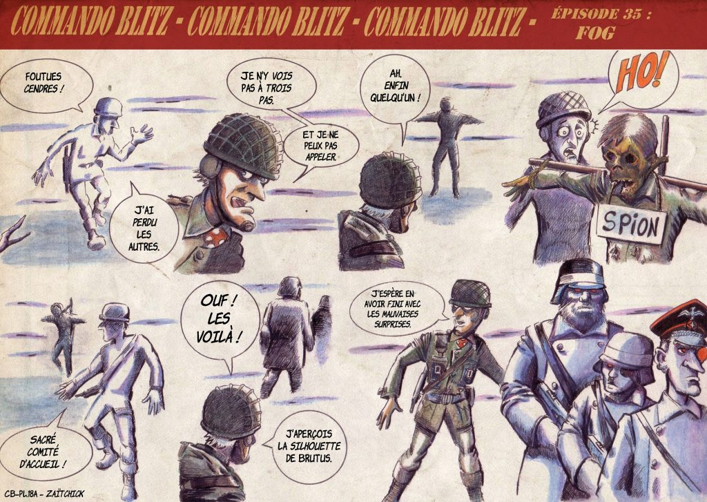 Commando Blitz BD bande dessinée nazi guerre mondiale robots science-fiction parodie