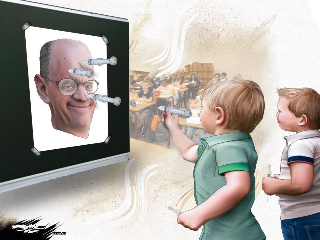 dessin presse humour Jean-Michel Blanquer image drôle coronavirus Éducation Nationale
