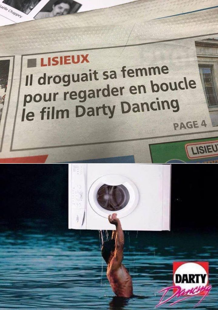dessin humour Lisieux Darty image drôle Dirty Dancing