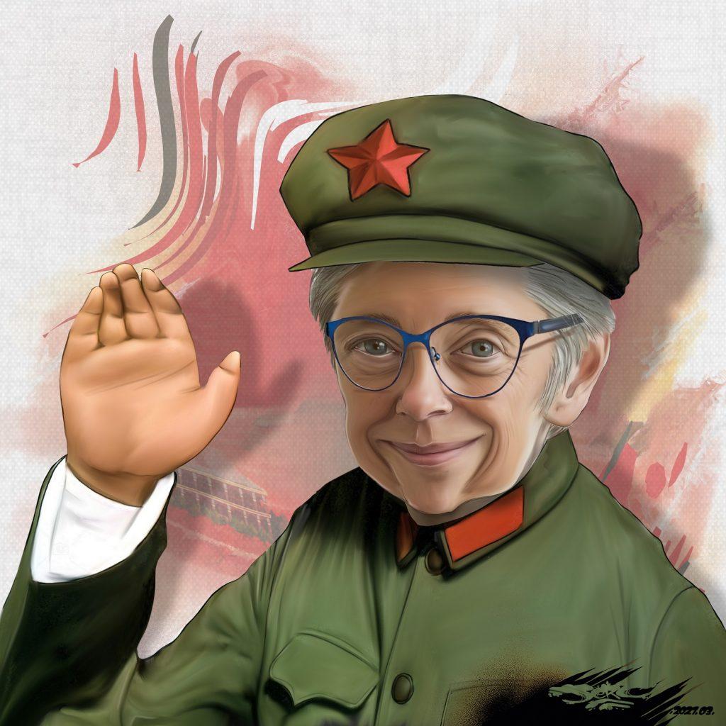 dessin presse humour Élisabeth Borne image drôle Mao Tsé-toung
