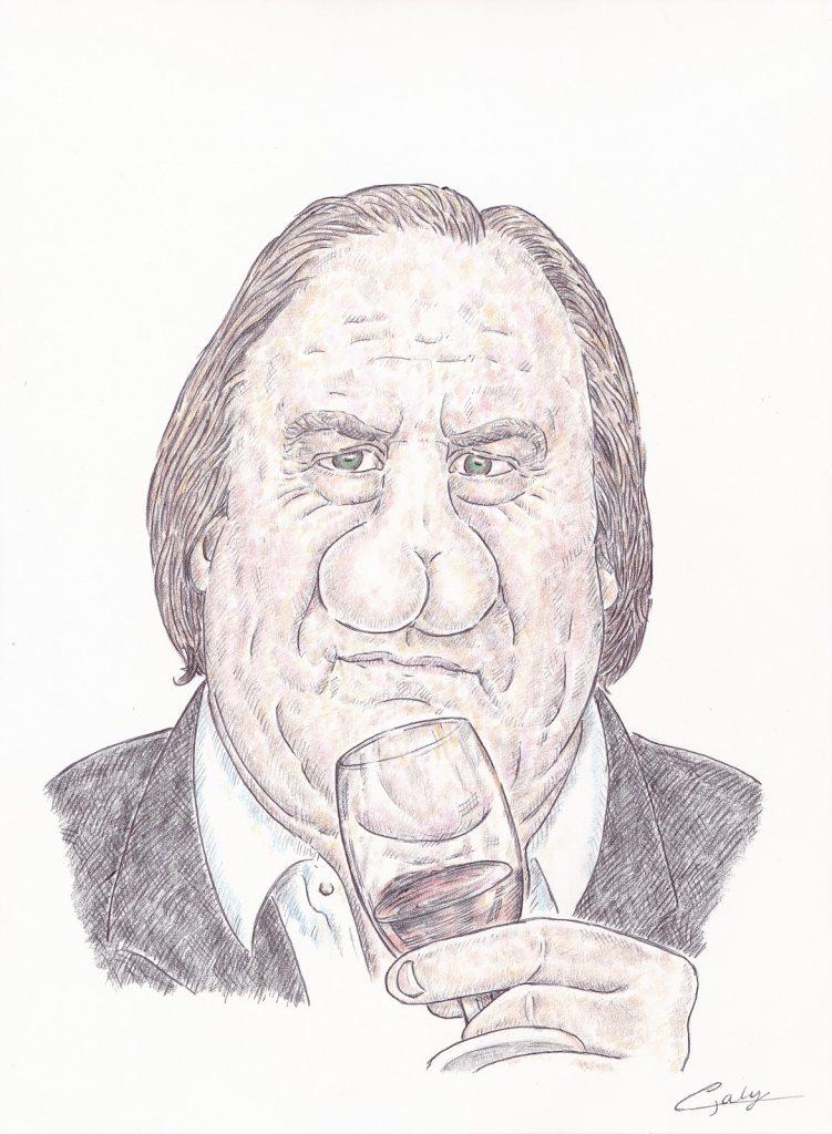 image drôle Gérard Depardieu dessin presse humour accusation viol