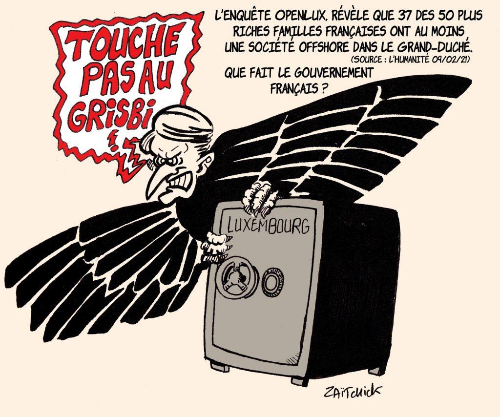 dessin presse humour Luxembourg image drôle société offshore évasion fiscale