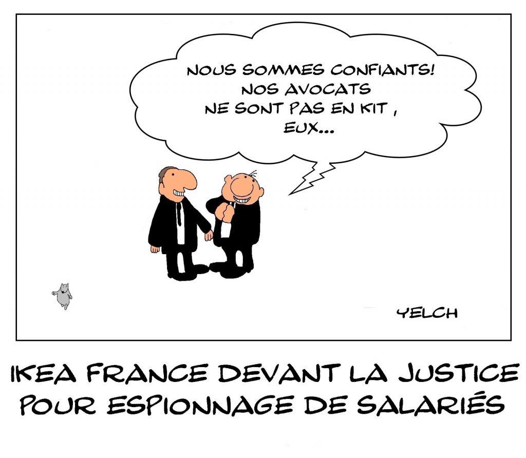dessins humour Ikea France image drôle justice espionnage