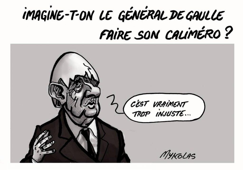 image drôle Nicolas Sarkozy dessins humour condamnation injustice Caliméro