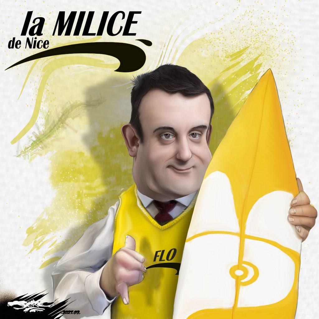 dessin presse humour Florian Philippot image drôle Brice de Nice