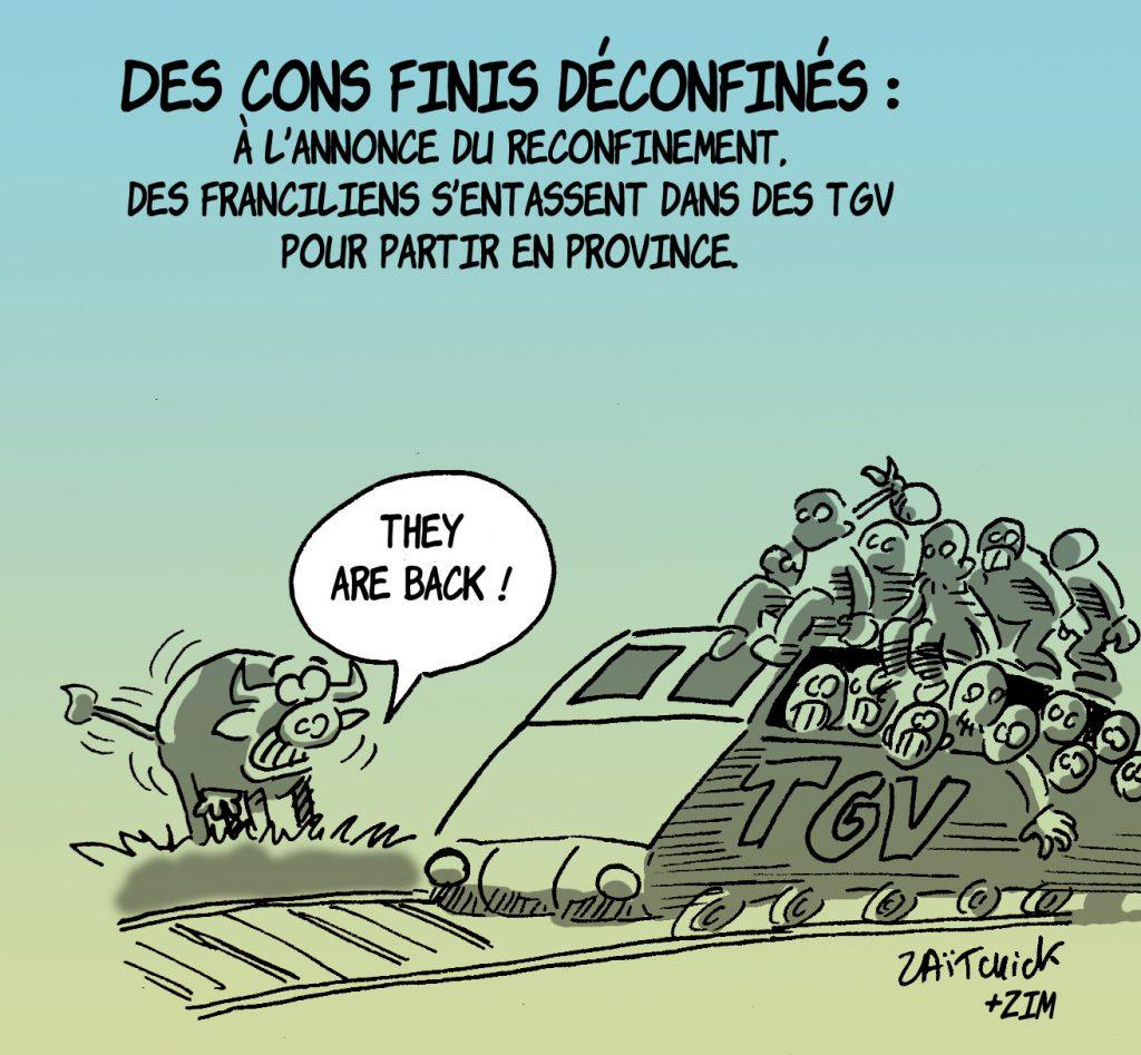 dessin presse humour coronavirus covid19 image drôle Île de France confinement