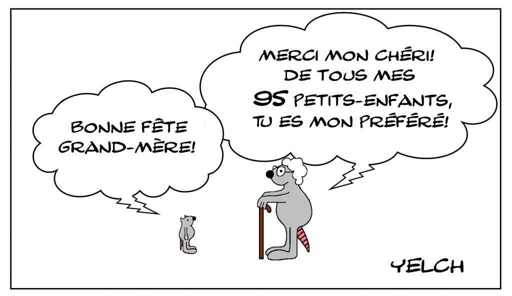 dessins humour 7 mars image drôle fête des grands-mères
