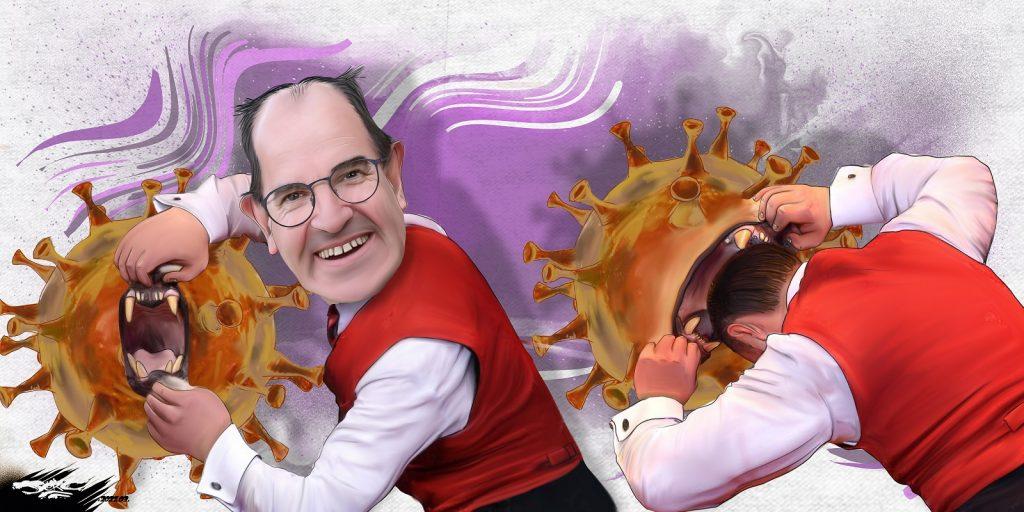 dessin presse humour Jean Castex dresseur image drôle coronavirus lion
