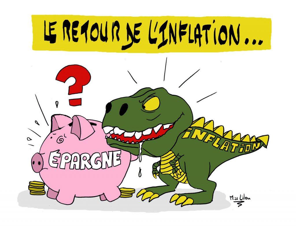 dessin presse humour coronavirus crise économique image drôle retour inflation