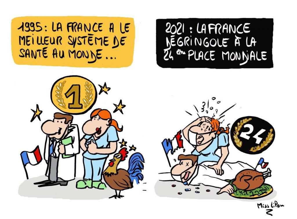 dessin presse humour France image drôle système de santé