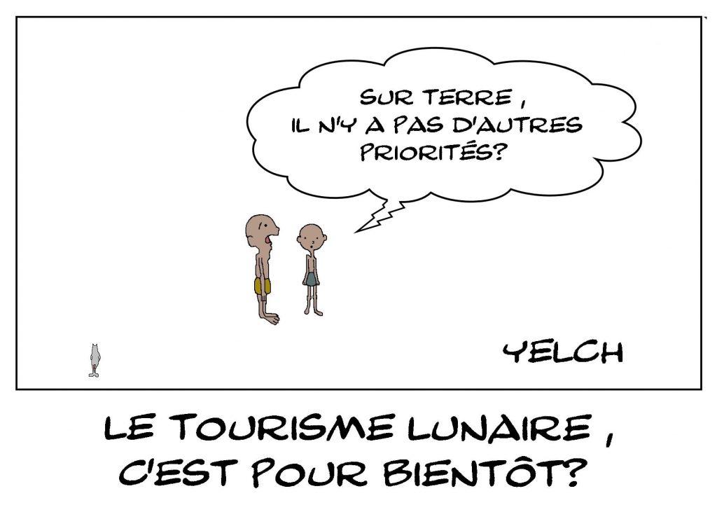 dessins humour tourisme lune image drôle priorité famine