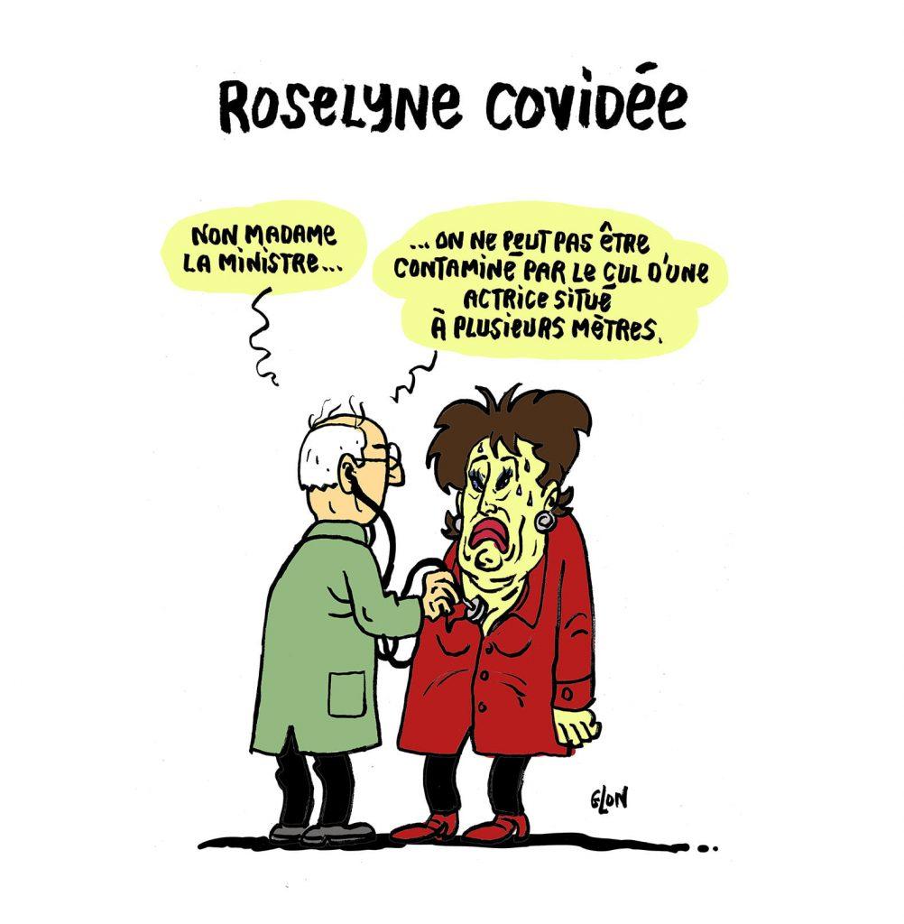 dessin presse humour coronavirus covid-19 image drôle contamination Roselyne Bachelot