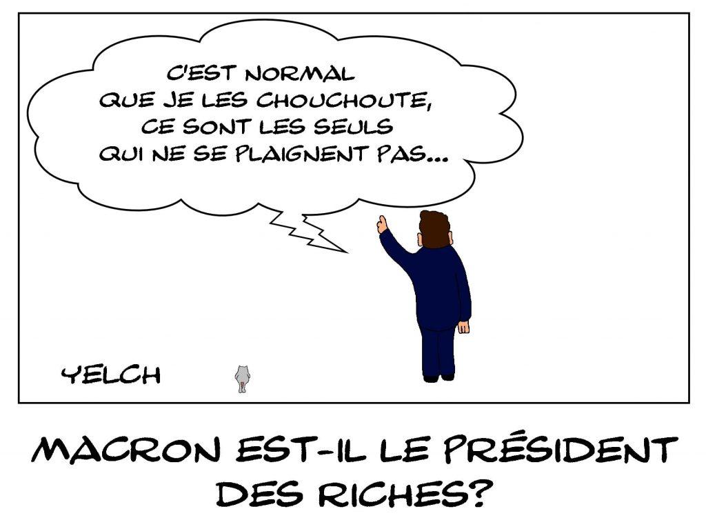 dessins humour Emmanuel Macron image drôle président des riches
