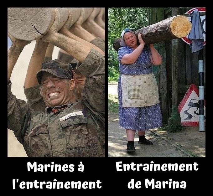 dessin humour marines image drôle États-Unis Russie entraînement