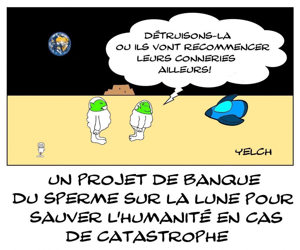 dessins humour banque du sperme image drôle humanité conneries