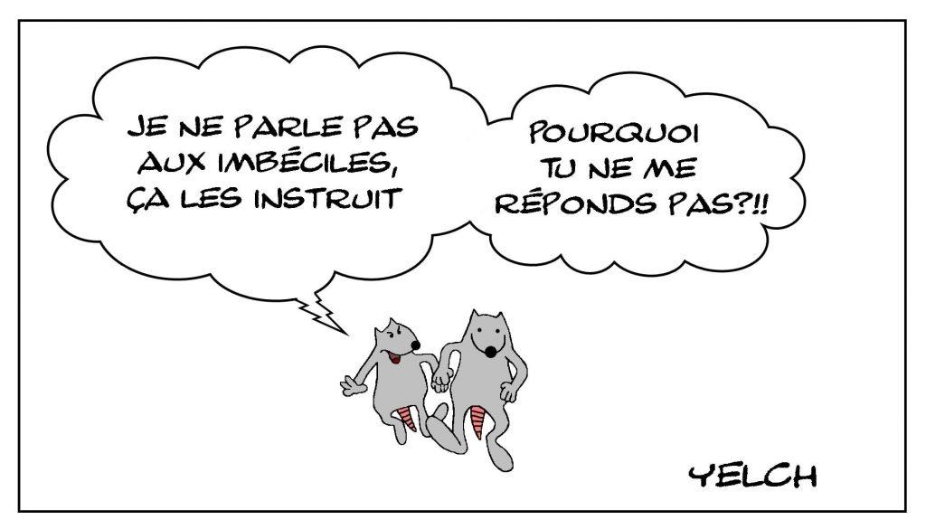 dessins humour expressions françaises image drôle parler aux imbéciles