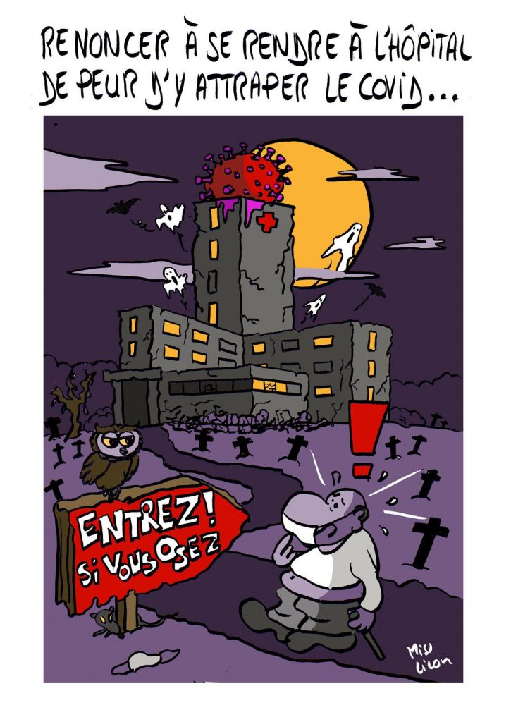 dessin presse humour coronavirus covid19 image drôle peur hôpitaux contagion