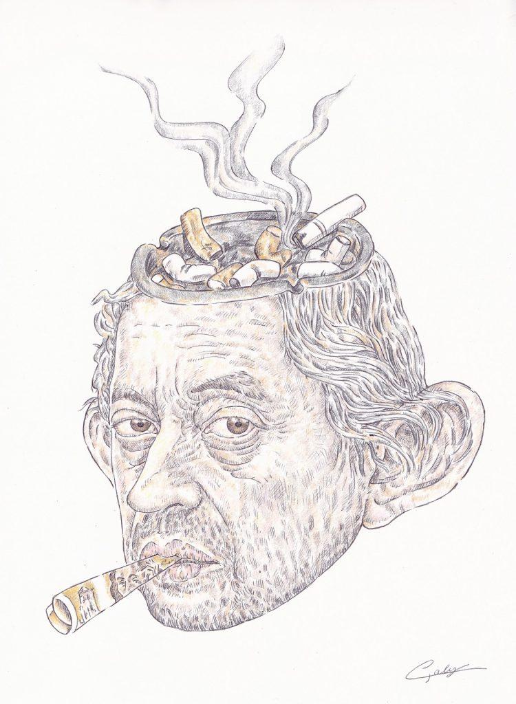 image drôle Serge Gainsbourg dessin presse humour Gainsbarre mort