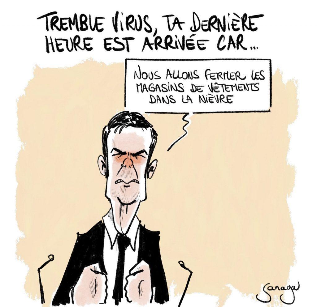 dessin presse humour coronavirus Olivier Véran image drôle confinement Nièvre