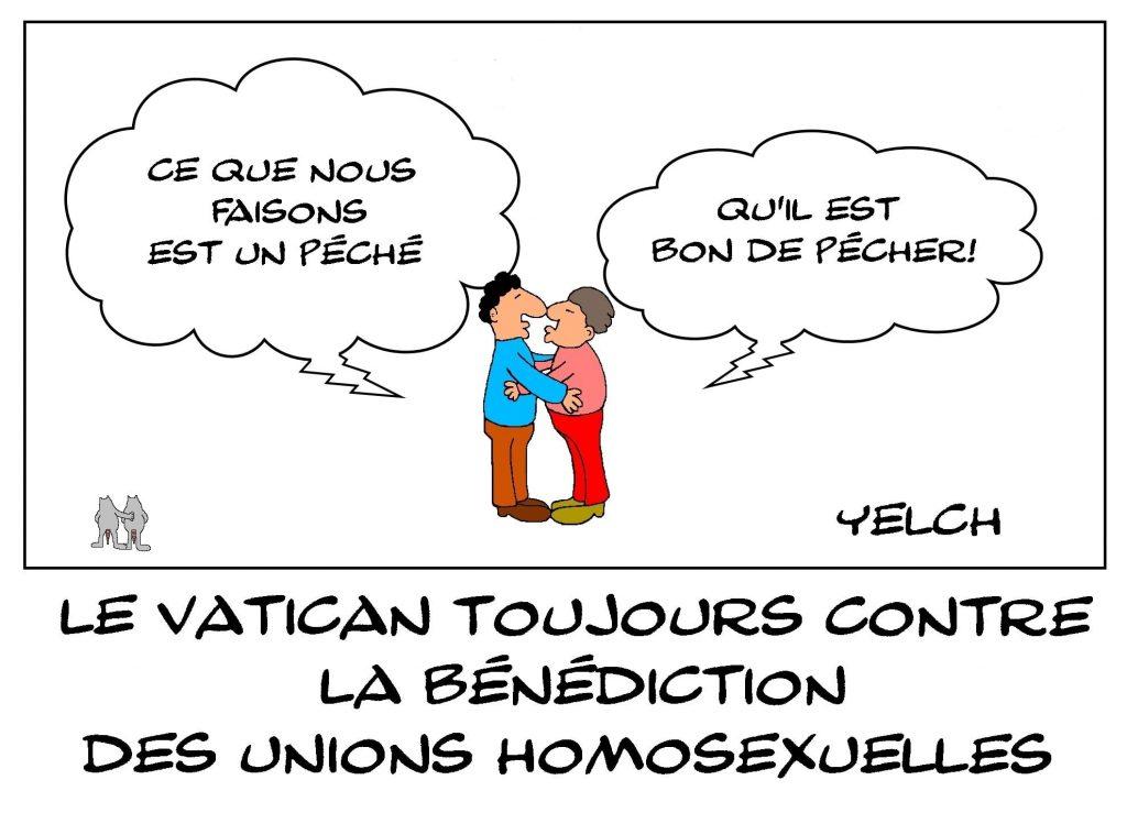 dessins humour Vatican bénédiction image drôle mariage gay