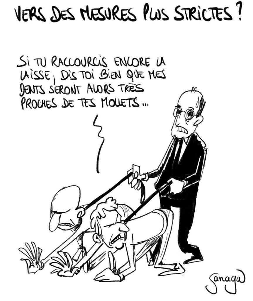 dessin presse humour coronavirus covid-19 image drôle Jean Castex mesures