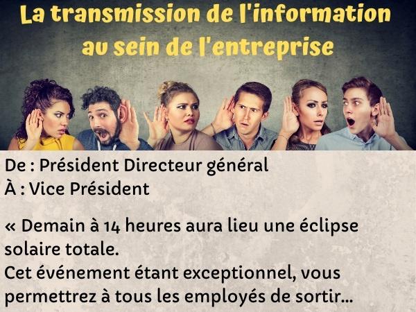 blague entreprises, blague information, blague langage, blague hiérarchie, blague éclipse solaire, blague communication, humour