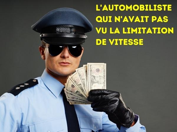 blague motard, blague arrestation, blague limitation de vitesse, blague tombola, blague lecture, blague vision, humour