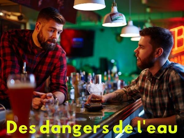 humour, blague sur les cafetiers, blague sur les dangers, blague sur l'eau, blague sur le Déluge, blague sur la mort, blague sur l'alcool