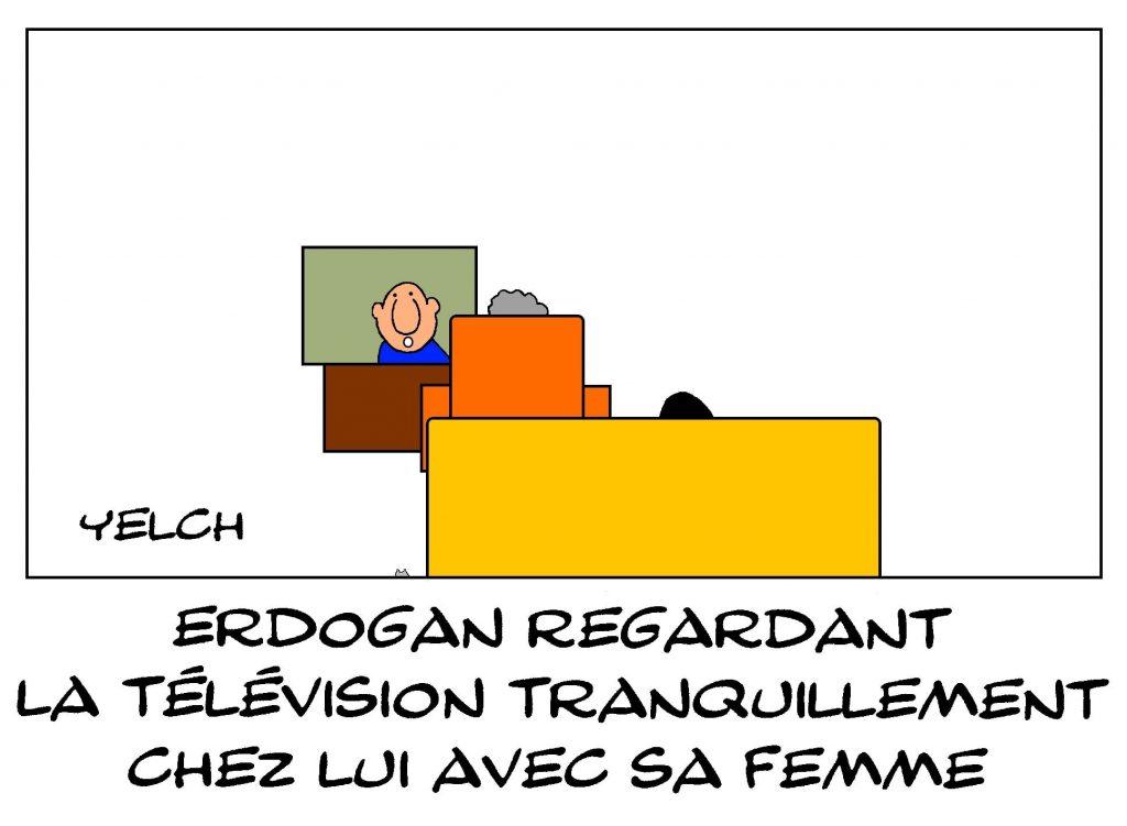 dessins humour Ursula von der Leyen protocole image drôle Recep Tayyip Erdogan Turquie