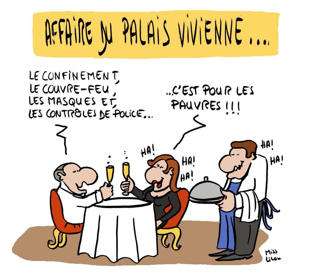 dessin presse humour coronavirus covid19 image drôle restaurant clandestin riches