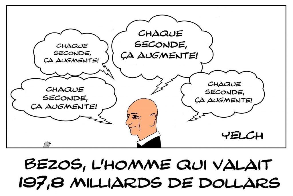 dessins humour fortune richesse image drôle Jeff Bezos milliardaire Amazon