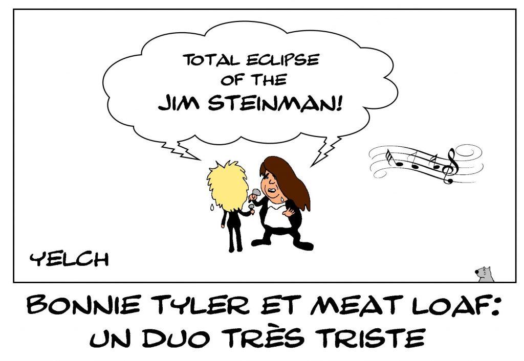 dessins humour Bonnie Tyler Meat Loaf image drôle décès de Jim Steinman compositeur