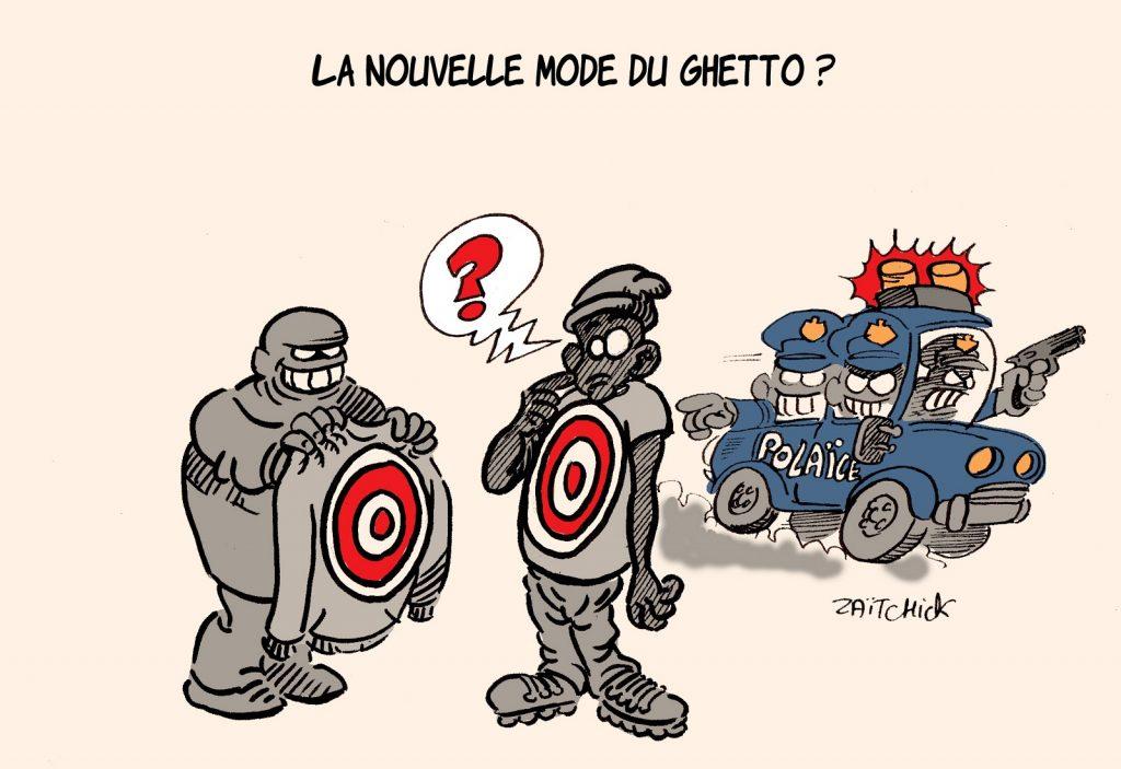 dessin presse humour États-Unis violences policières image drôle Amérique mode ghetto