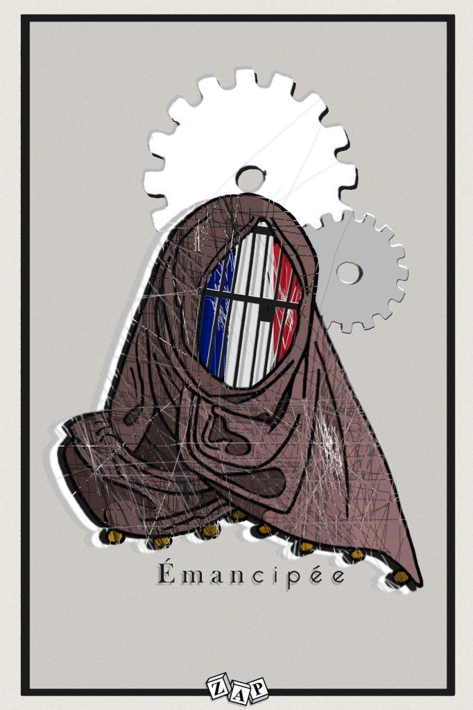 dessin presse humour émancipation femme image drôle hijab voile islamique