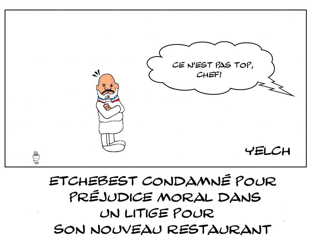 dessins humour Philippe Etchebest image drôle condamnation préjudice moral