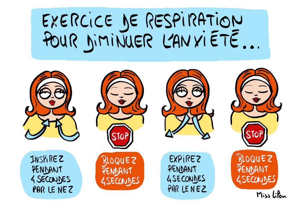 dessin presse humour anxiété stress image drôle exercice respiration