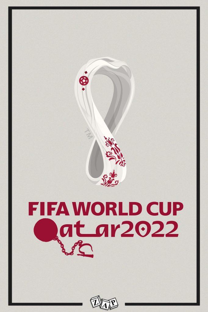 dessin presse humour foot football image drôle coupe du monde Qatar esclavagisme