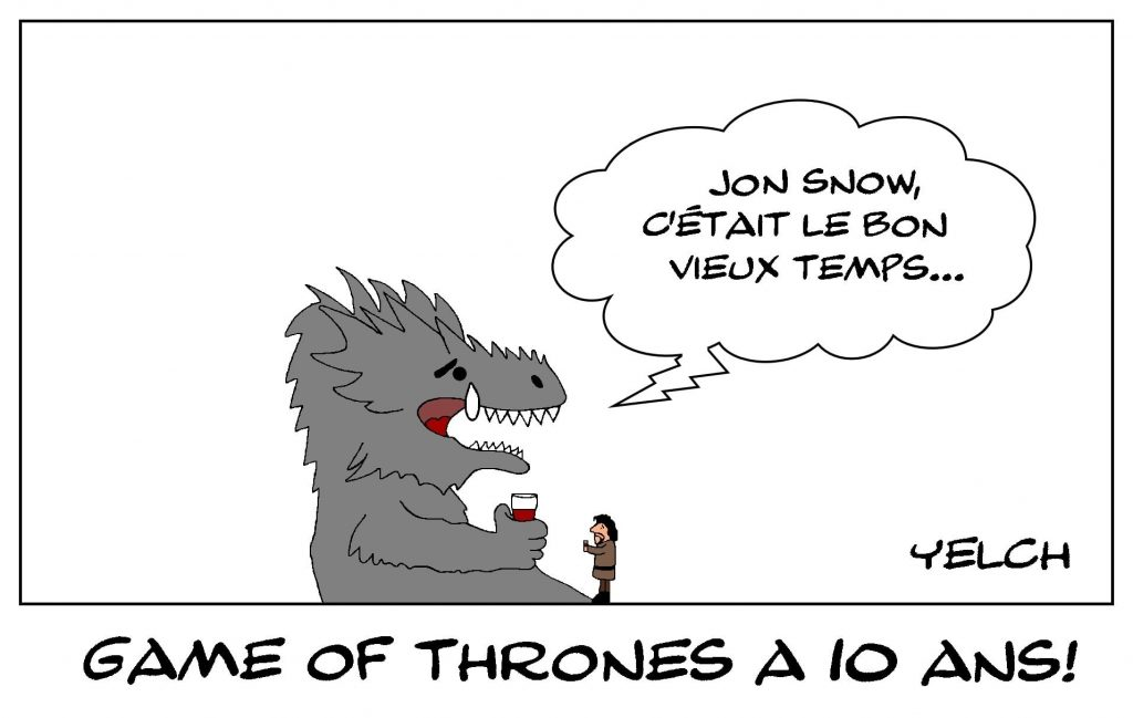 dessins humour Game of Thrones image drôle anniversaire Jon Snow