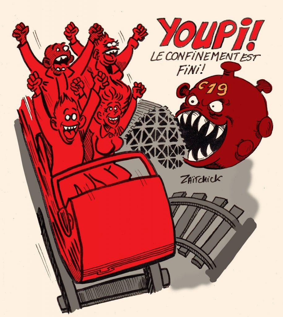 dessin presse humour coronavirus covid 19 image drôle confinement déconfinement