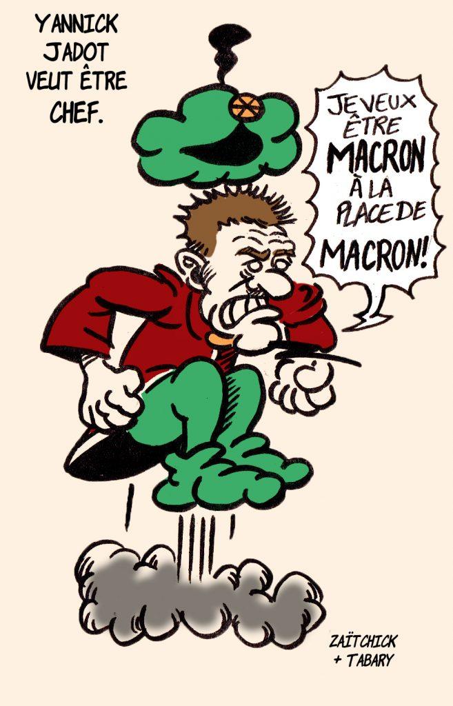 dessin presse humour Yannick Jadot Iznogoud image drôle présidentielle 2022 calife Macron