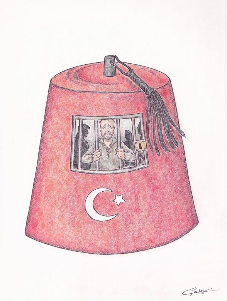 dessin presse humour Turquie prison image drôle Fabien Azoulay calvaire