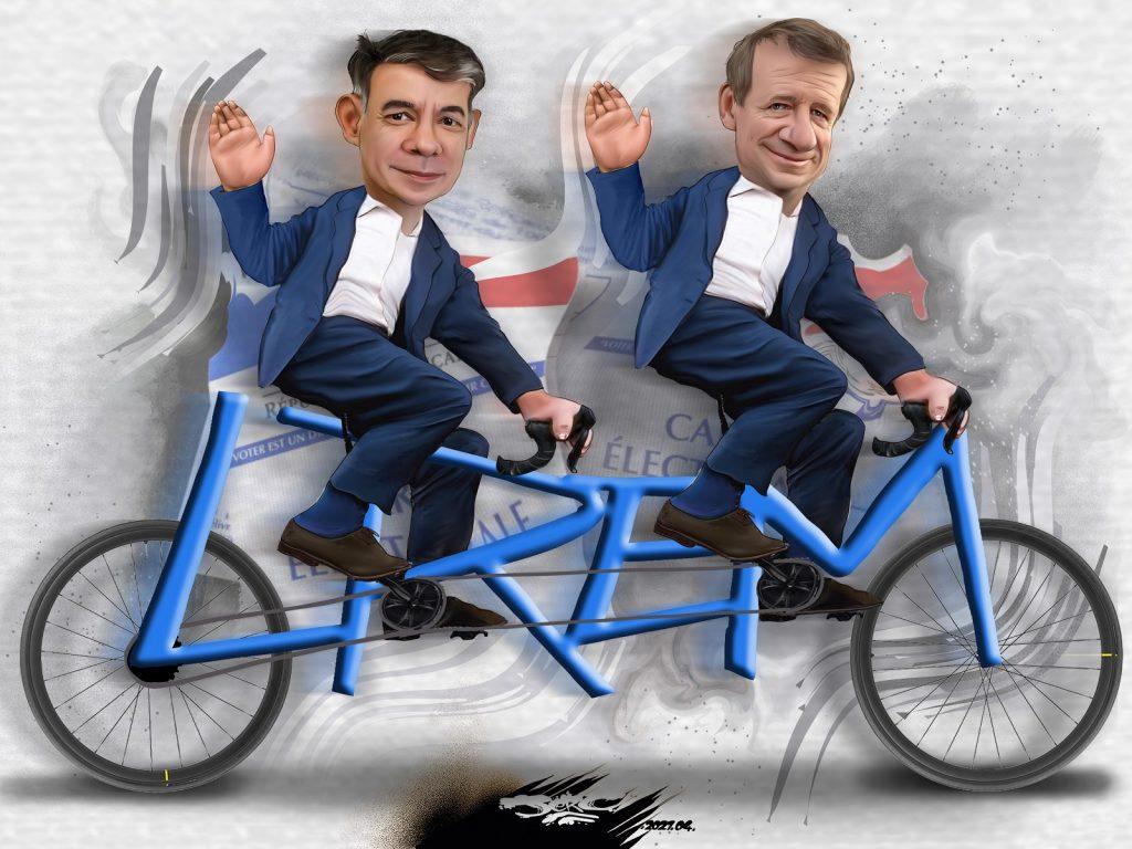 dessin presse humour Olivier Faure Yannick Jadot riches image drôle union tandem LREM