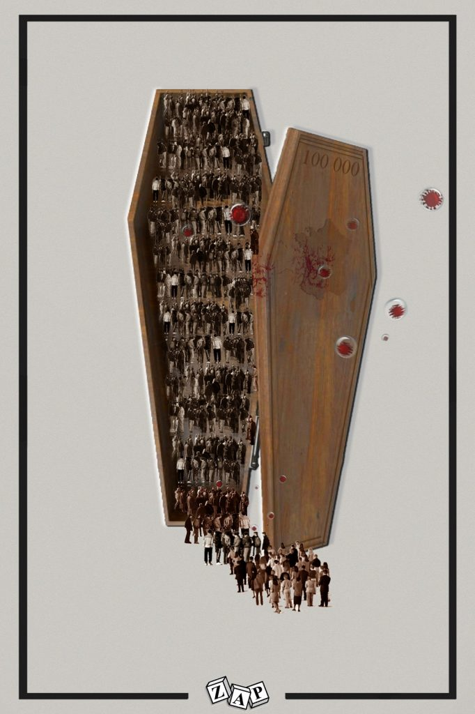 dessin presse humour coronavirus covid-19 image drôle seuil morts victimes