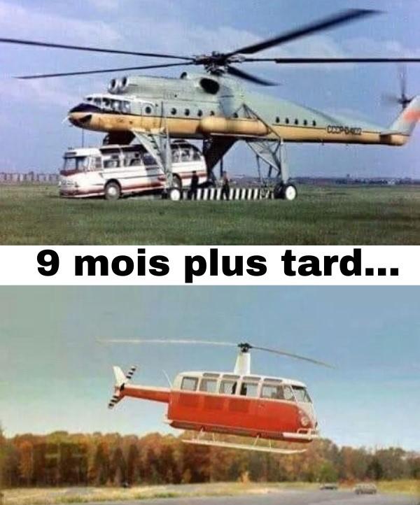 dessin humour reproduction hélicoptère image drôle bus bébé